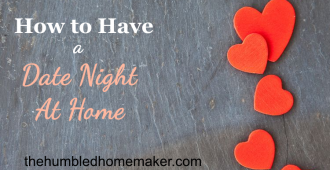 I love these ideas for having a date night at home with your spouse! These would be great for Valentine's Day, or any time of year! It' so important to connect with your spouse, and these are some good ways to have date night--even on a budget!