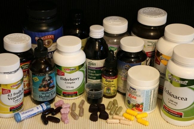 Here's the vitamins and supplements plan we follow during flu season!