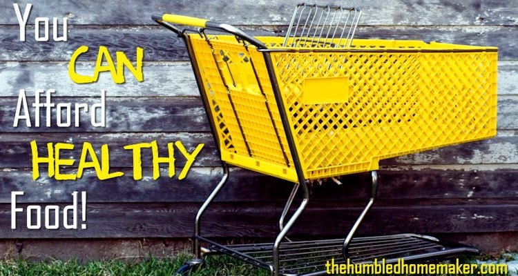 I had to figure out how to get higher quality foods without significantly increasing my grocery budget. Here are 7 things I did to help our family afford healthy food!