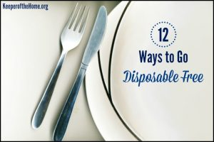12 Ways to Go Disposable Free