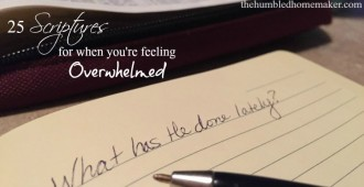 25 Bible Verses for When You're Feeling Overwhelmed