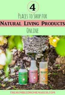 These online retailers save me both time and money! Today's post will introduce you to 4 of these places to shop for natural living products online!