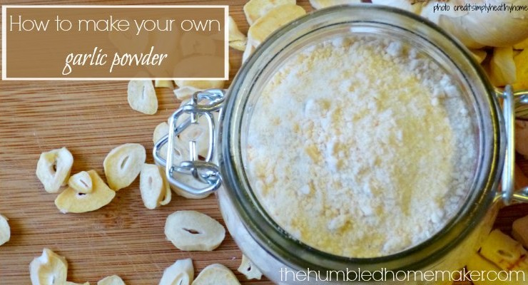 You can make your own garlic powder at home! It totally beats the flavor of store-bought powders! This would be so tasty in homemade salad dressings and dips!