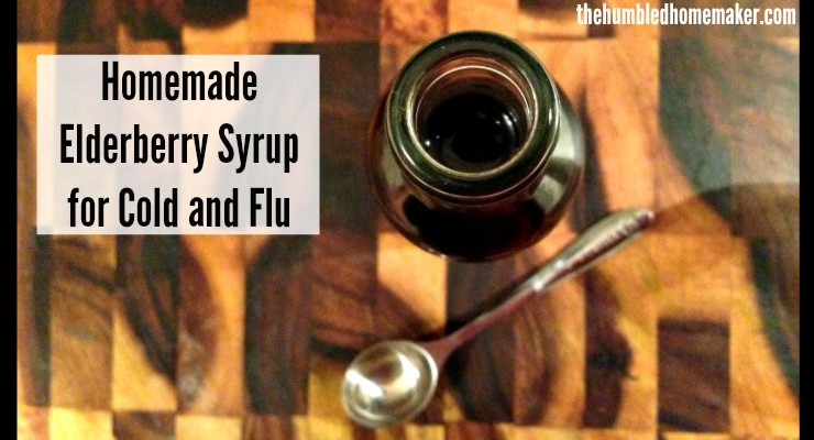 Homemade elderberry syrup is a safe, effective natural remedy for colds and flu--or just to boost your immune system during the winter months!