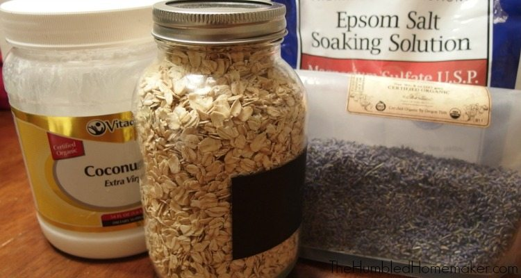 Oatmeal Lavender Bath Tea Supplies - TheHumbledHomemaker.com