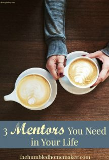 Do you have a mentor? I personally believe having good mentors in your life is vital. This post gives three mentors you need in your life!
