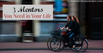 3 Mentors You Need in Your Life