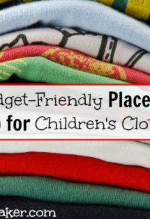 If you're tired of expensive kids clothes, you can't miss these four budget-friendly places to shop for children's clothing!