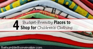 4 Budget-Friendly Places to Shop for Children's Clothing