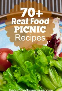 Wish you could find trusted real food recipes for favorite picnic foods? Enjoy this delicious collection of over 70 real food picnic recipes.