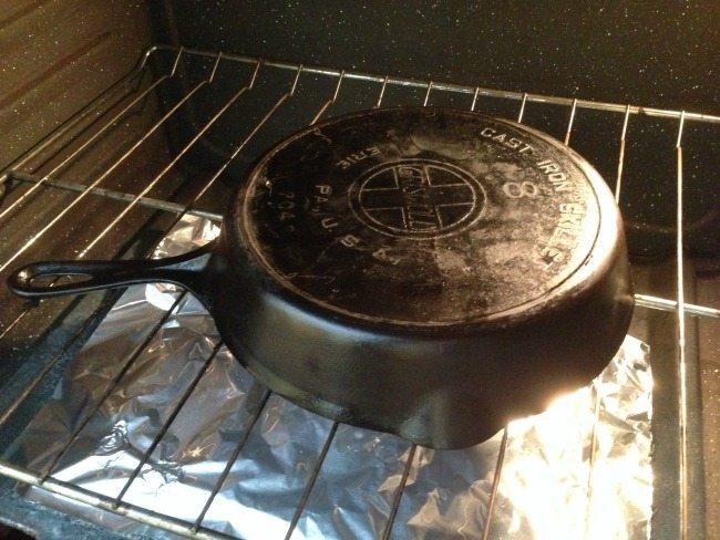 Baking cast iron