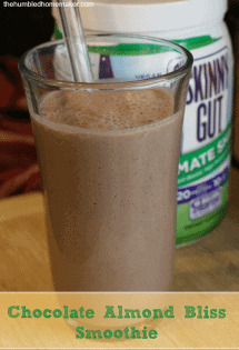 I think you will LOVE this chocolate almond bliss smoothie! It's Trim Healthy Mama compliant and both dairy-free and gluten-free!
