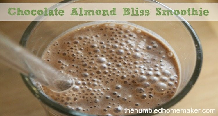 I think you will LOVE this chocolate almond bliss smoothie! It's Trim Healthy Mama compliant and both dairy-free and gluten-free! #SkinnyGutShake #ad
