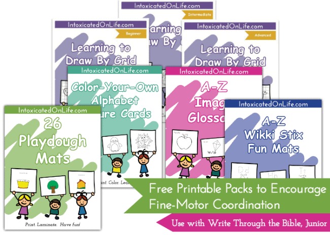Free Printable Packs for Fine Motor Coordination