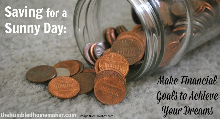 Saving for a Sunny Day - TheHumbledHomemaker.com