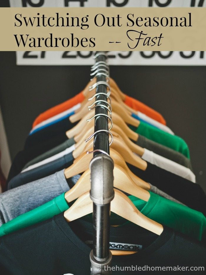Switching out seasonal wardrobes used to be a major struggle for me, but I've finally learned the secret to switching out seasonal wardrobes fast! I hope these tips will encourage and help you as well!