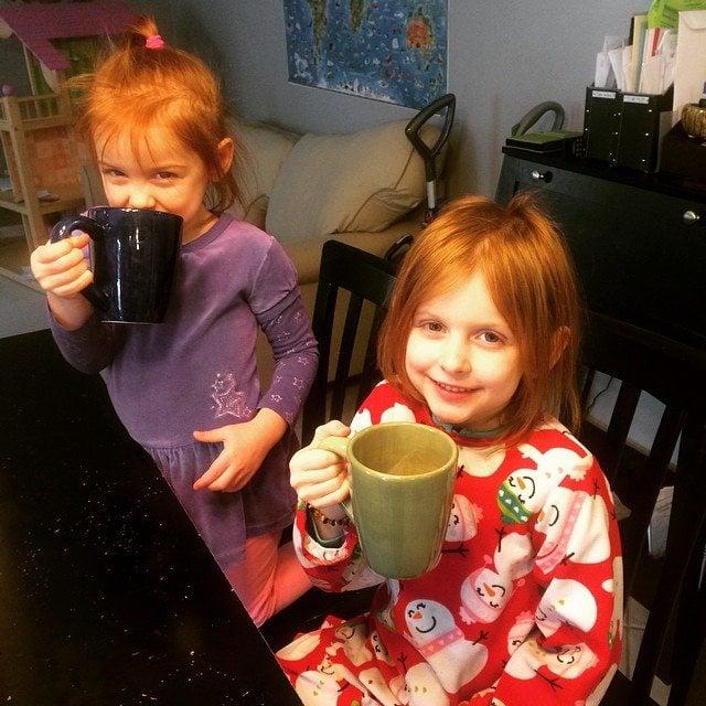 drinking hot chocolate