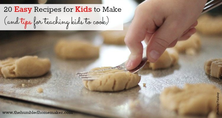 Cookies are an example of some great easy recipes for your kids to start learning how to cook.