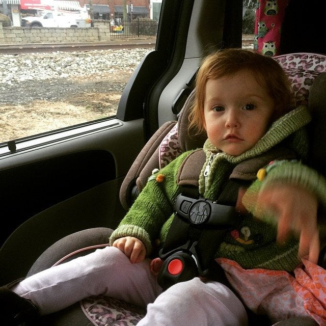 """My backseat driver. She loves to tell me to """"Go, Mommy!"""""""