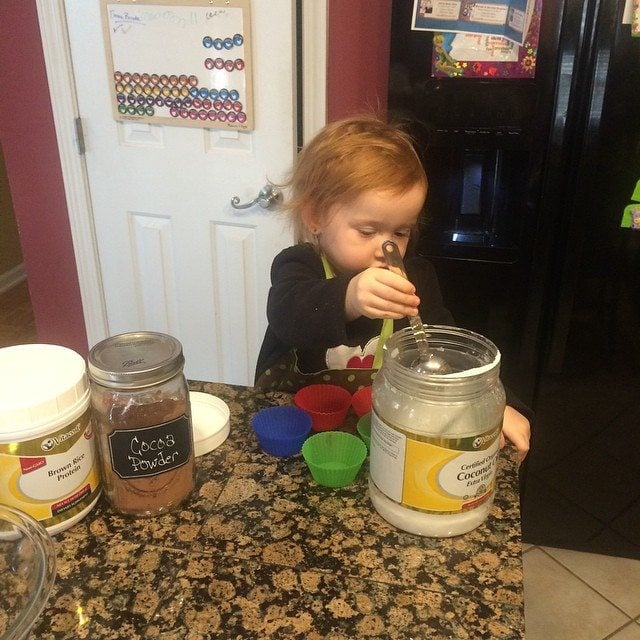 even a toddler can help in the kitchen