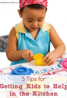 I hope you love these 5 tips for getting kids to help in the kitchen!