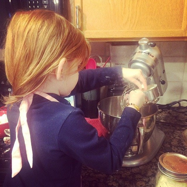 a young child can help mix food