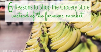 Want to shop the farmers market but unsure of the cost? See why shopping at the grocery store instead of the farmers market might be a better option!