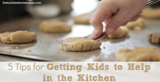 Getting Kids to Help in the Kitchen