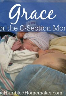 Grace for the C-Section Mom