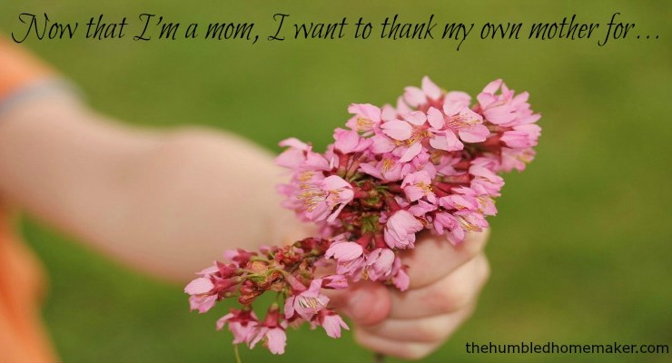 TheHumbledHomemaker.com: Now that I'm a mom, I want to thank my own mother for... - TheHumbledHomemaker.com