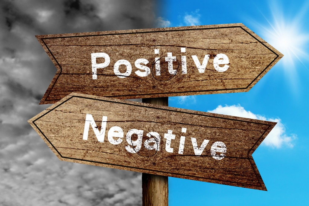 Do you choose to be a positive light or a negative cloud?