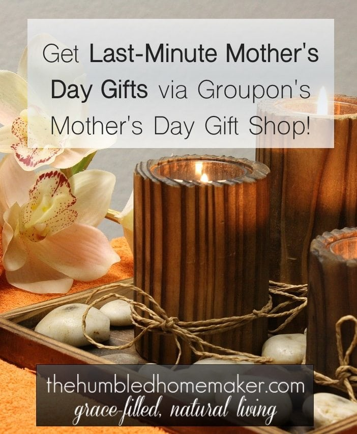 It's not too late to get a Mother's Day gift for all the moms in your life. You can get last-minute Mother's Day gifts through Groupon!