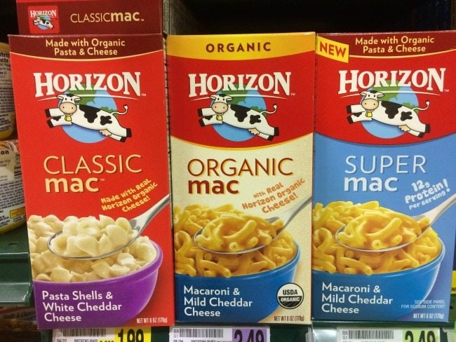 Horizon Mac N Cheese at Kroger