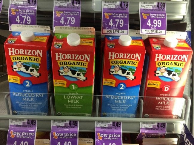 Horizon Organic Milk at Kroger