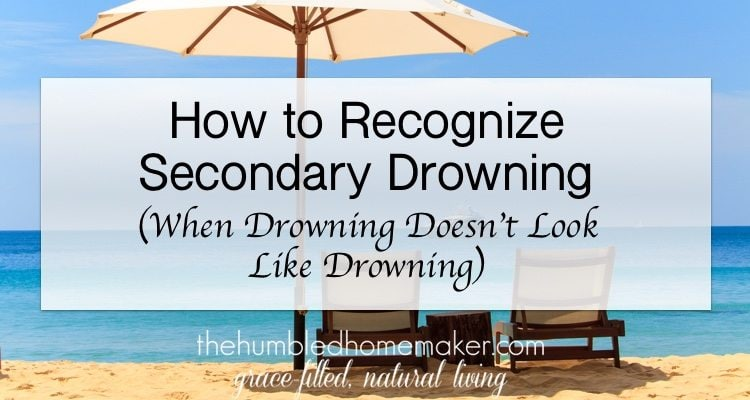 Secondary drowning doesn't look like drowning. It can happen hours after someone has been in the water. It's important to educate ourselves and others about this rare but deadly form of drowning!