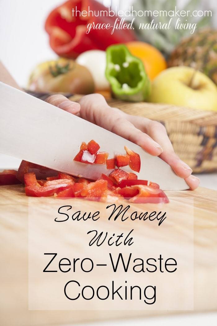 If you apply zero waste cooking principles to all the items you bring home from the store, a CSA membership, or grow in your garden, your budget will stretch further allowing you to make healthier choices for your family.
