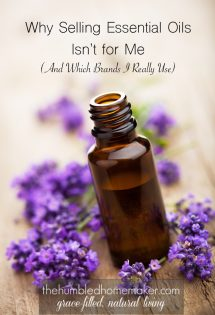 Why I Don't Sell Essential Oils