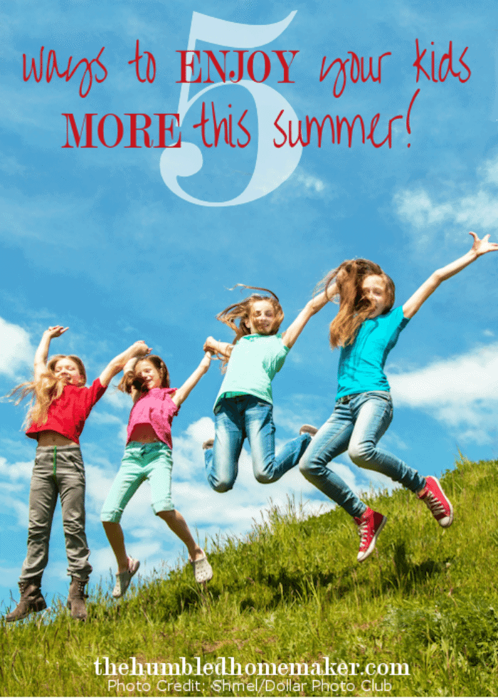Summer is a time for relaxation, laughter and play. But it can bring a unique set of challenges for moms. Here are 5 ways to enjoy your kids more this summer.