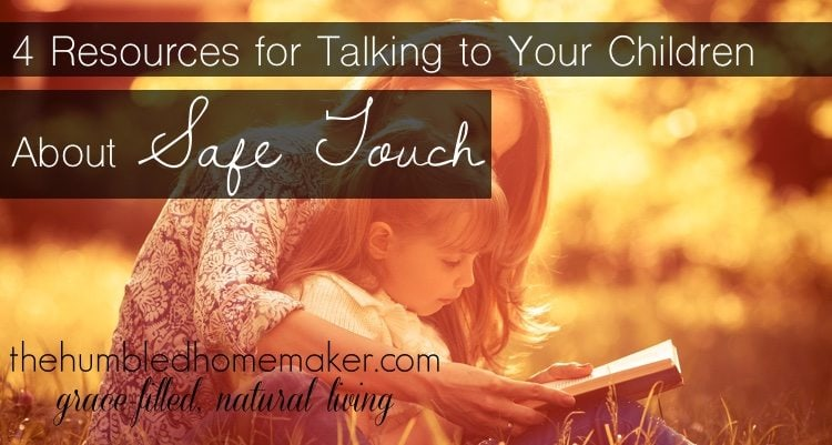 Talking to children about safe touch might just save you and them from heartache for years to come. So many children are molested at sleepovers, at friends' houses and even by their own relatives. It's never too early to begin talking to children about safe touch!