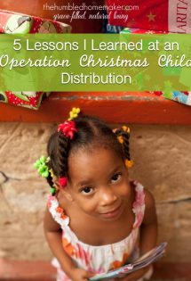 5 Lessons I Learned at an Operation Christmas Child Distribution