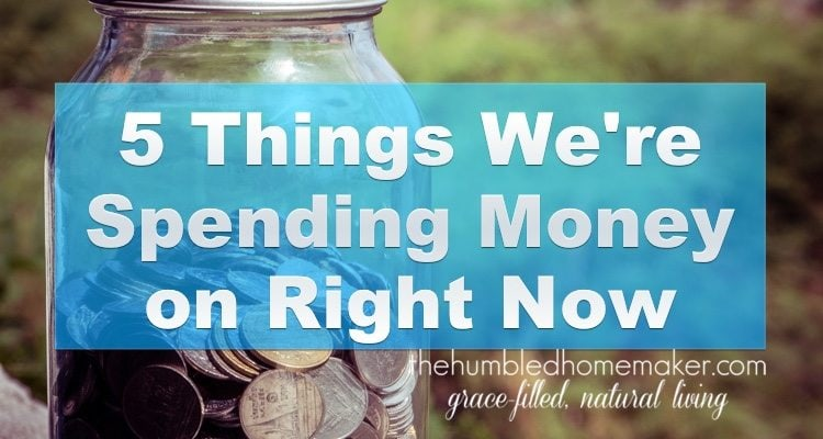 I'm a penny pincher by nature, but in recent years I've learned that sometimes it's OK to spend money. Here are 5 things we are spending money on right now!