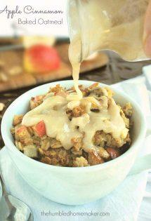 Easy, Make-Ahead Apple Cinnamon Baked Oatmeal