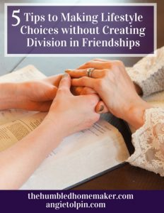 5 Tips to Making Lifestyle Choices without Creating Division