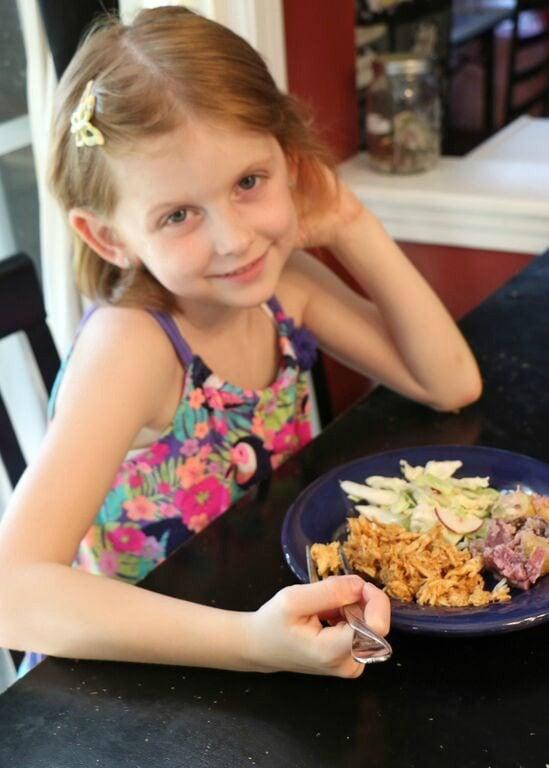 Enjoying the Blue Apron Meal