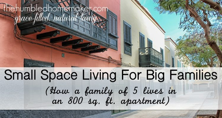 Fabulous Small Space Living For Big Families The Humbled Homemaker Largest Home Design Picture Inspirations Pitcheantrous