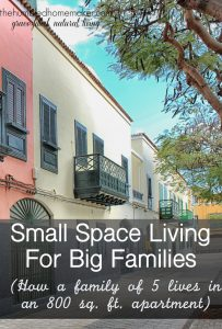 Small Space Living for Big Families