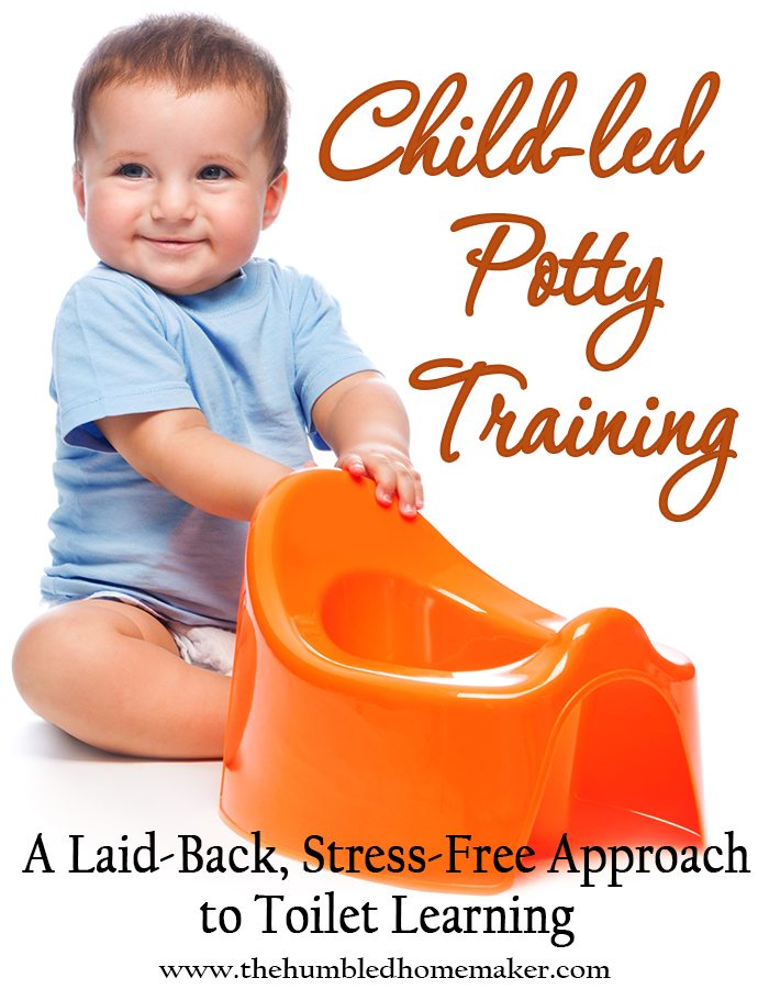 If you've ever been discouraged with potty training, you have to check out child-led potty training. This is a stress-free, laid-back approach to toilet learning! Hang in there, Mama. There is a light at the end of the potty training tunnel!
