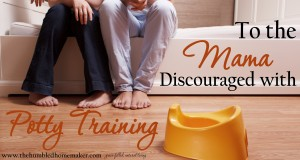Are you discouraged with potty training? I've been there, Mama! This post will give you hope for a light at the end of the potty training tunnel!