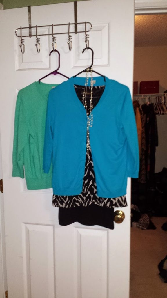 I've had the top, skirt, and necklace for years, and someone recently gave me the two cardigans as hand-me-downs.