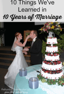 10+ Things We've Learned in 10 Years of Marriage